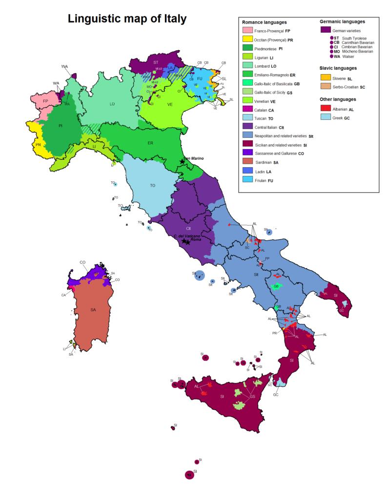 Диалекты итальянского языка